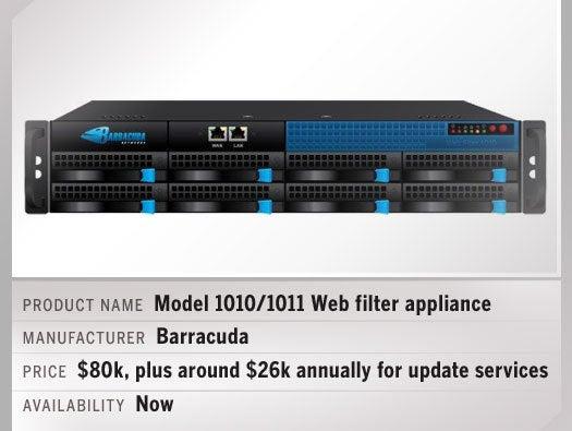 Model 1010/1011 web filter appliance