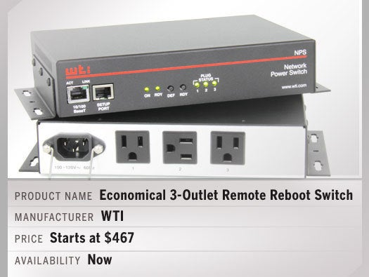 Economical 3-Outlet Remote Reboot Switch with Advanced Features