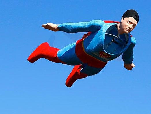 A radio-controlled Superman plane