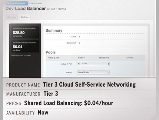 Tier 3 Cloud Self-Service Networking