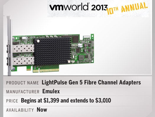Emulex LightPulse Gen 5 Fibre Channel Adapters