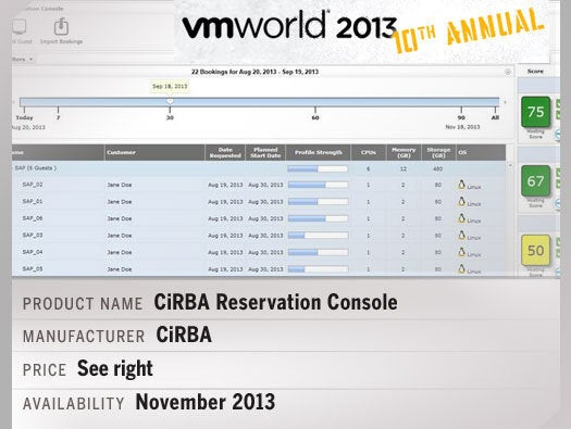 CiRBA Reservation Console