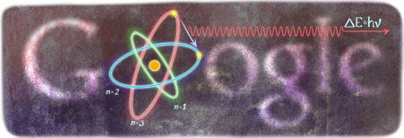 Google Doodle for Niels Bohr's 127th birthday