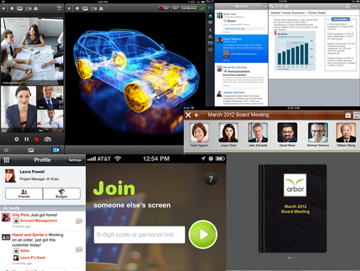 collage of collaboration apps