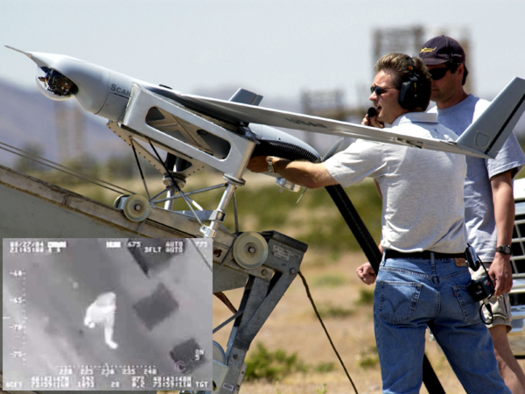 Scan Eagle drone used in Nevada for aerial surveillance exercise