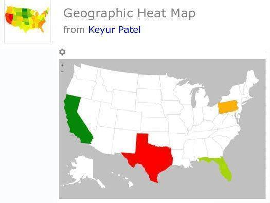 Geographic Heat Map