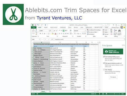 Ablebits.com Trim Spaces for Excel