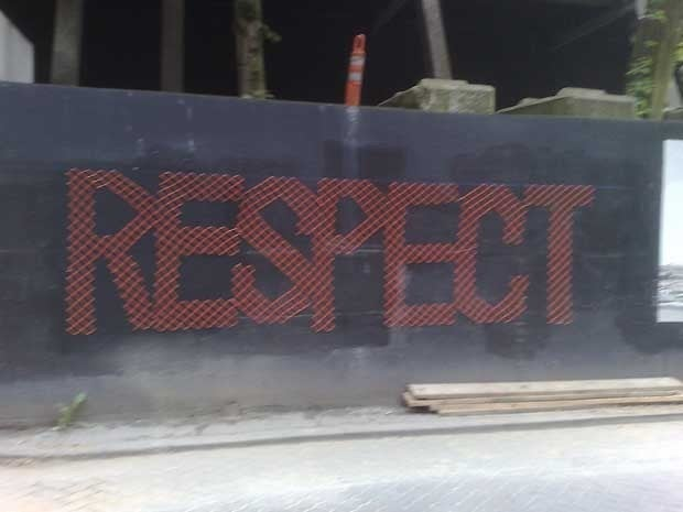 Picture of the word Respect on a fence