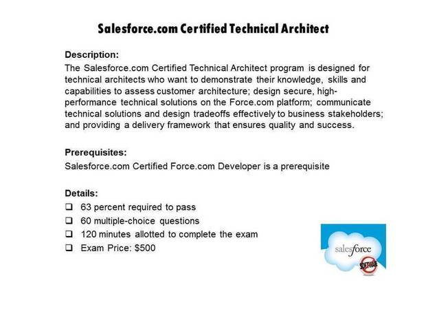 Salesforce.com Certified Technical Architect certification