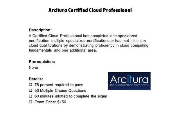 Arcitura Certified Cloud Professional certification