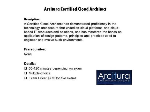 Arcitura Certified Cloud Architect certification