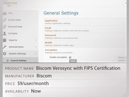 Biscom Verosync with FIPS Certification