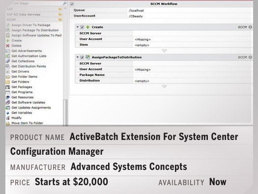 ActiveBatch Extension For System Center Configuration Manager
