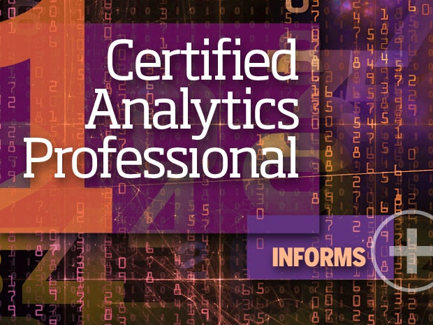 1. Certified Analytics Professional -- INFORMS