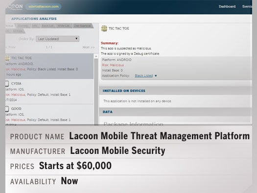 Lacoon's Mobile Threat Management platform