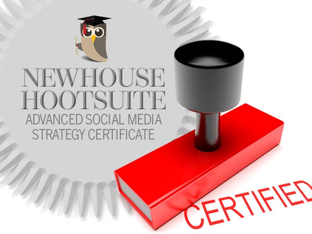Newhouse Hootsuite Advanced Social Media Strategy Certificate