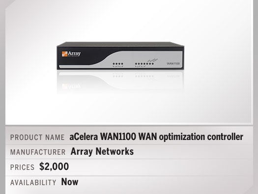 aCelera WAN1100 WAN optimization controller