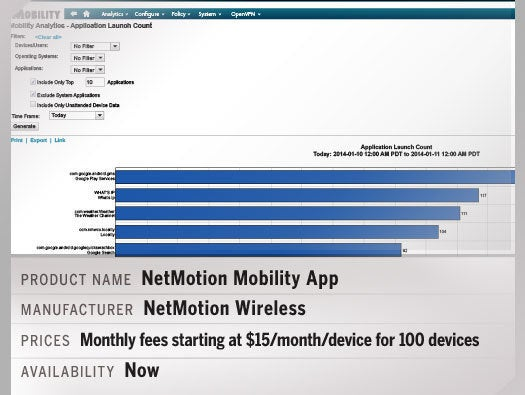 The NetMotion Mobility App