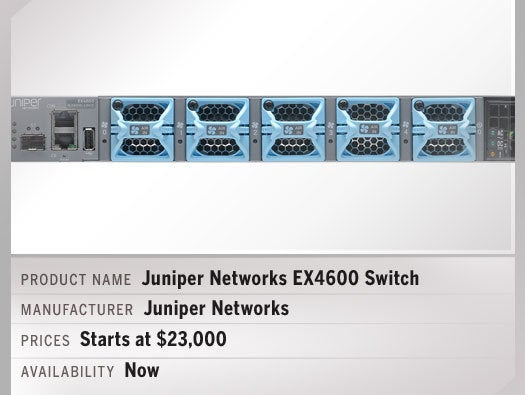 Juniper Networks' EX4600 Ethernet switches