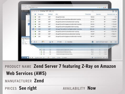 Zend Server 7 featuring Z-Ray on Amazon Web Services (AWS)