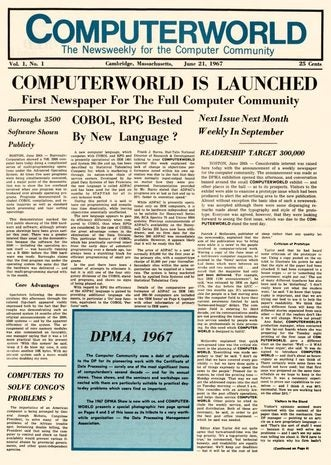 Computerworld June 21, 1967 cover