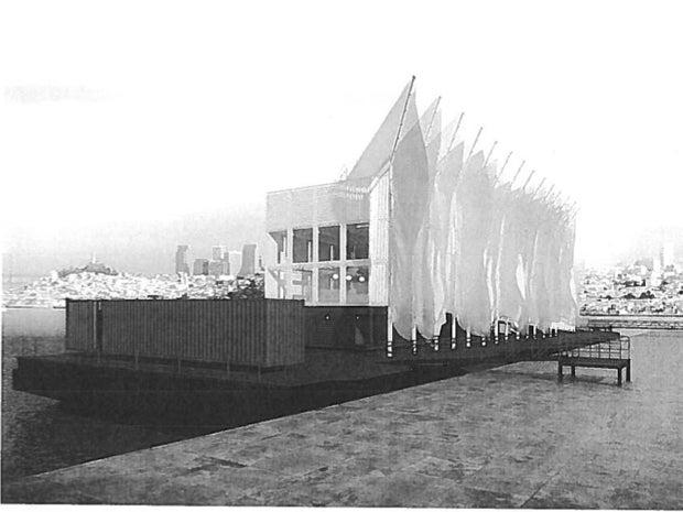 Image of barges aft gangway