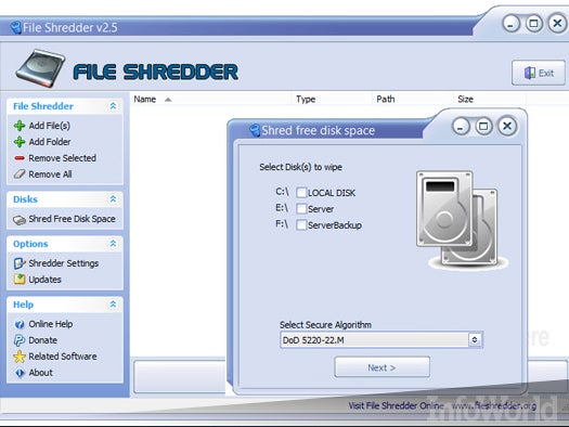 Top free desktop file management tool: File Shredder