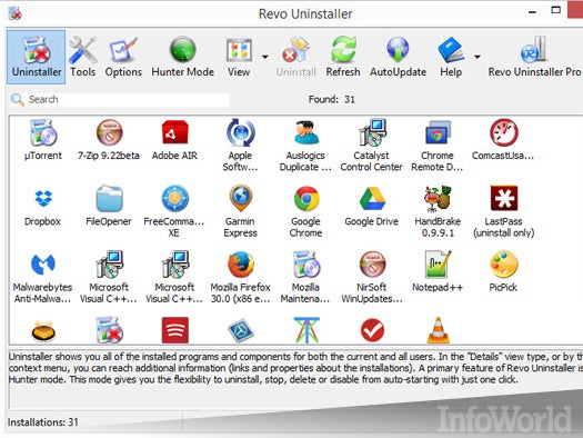 Top free desktop system tool: Revo Uninstaller