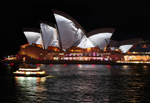 Lighting the Sails on Sydney Opera House