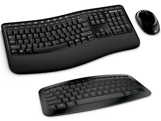 Microsoft Wireless Comfort Desktop 5000 and Arc keyboards