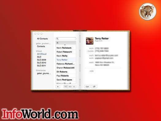 OS X Mountain Lion Contacts app