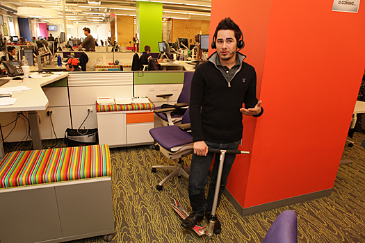 Quicken Loans office with bright colors and scooter