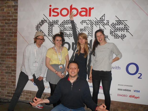 Team Rollercoaster at Isobar Create London hackathon