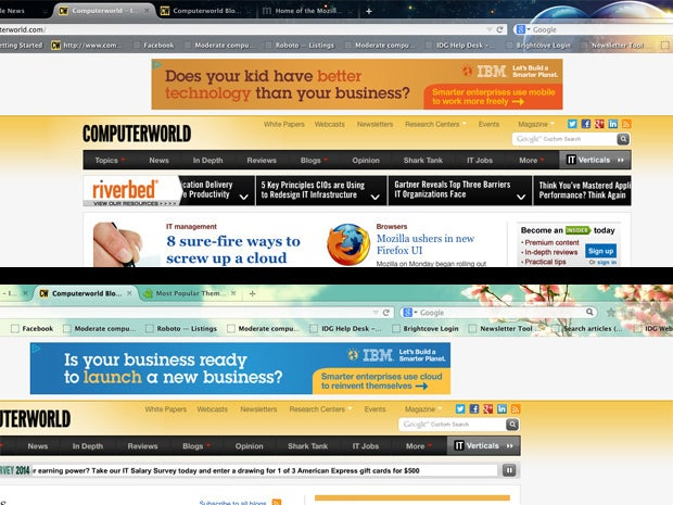 Australis browser themes