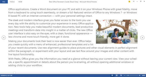 Read Mode in Word