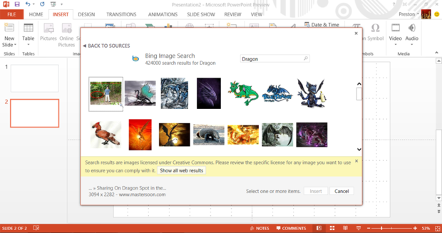 searching for an image with Bing Image Search