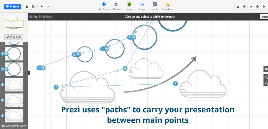 screenshot - Prezi paths