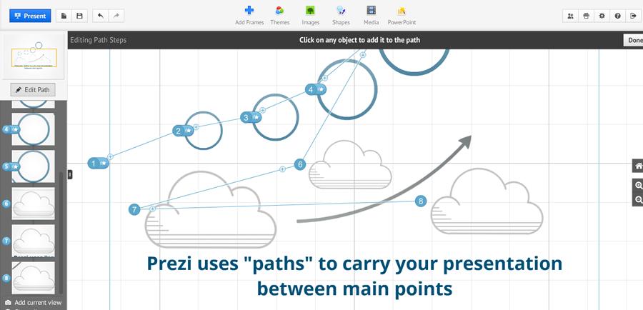 screenshot - Prezi paths