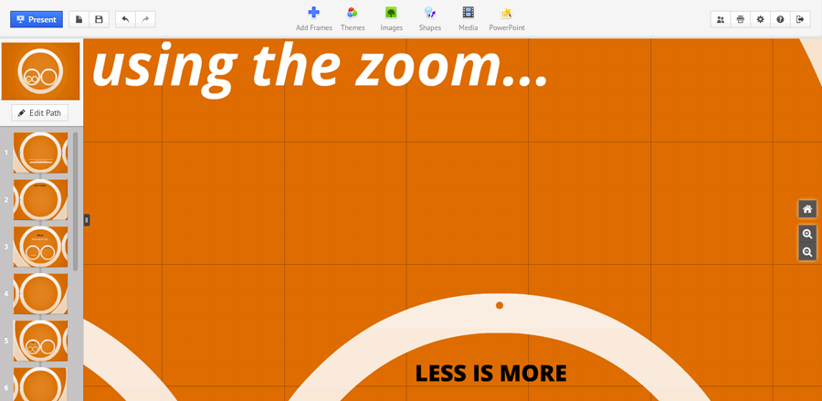 using the zoom: less is more