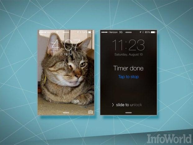 iOS 7 lock-screen timer