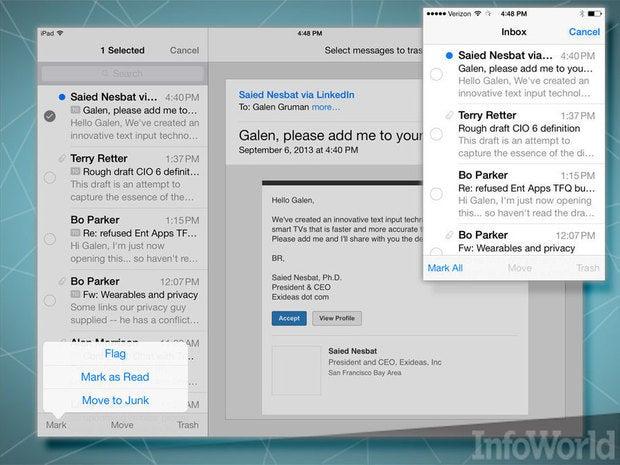 iOS 7 Mail app