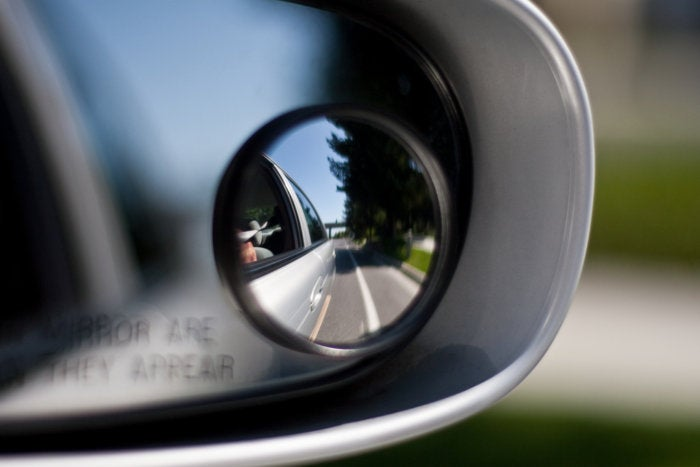 blind spot side view mirror car vehicle
