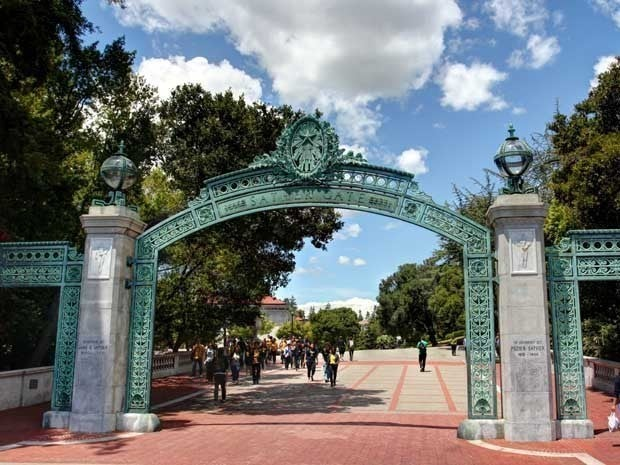 Picture of Sather Gate at the University of California at Berkeley