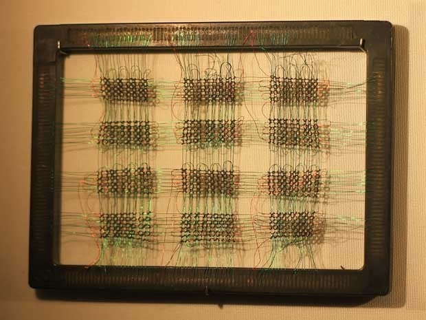 Picture of magnetic core memory