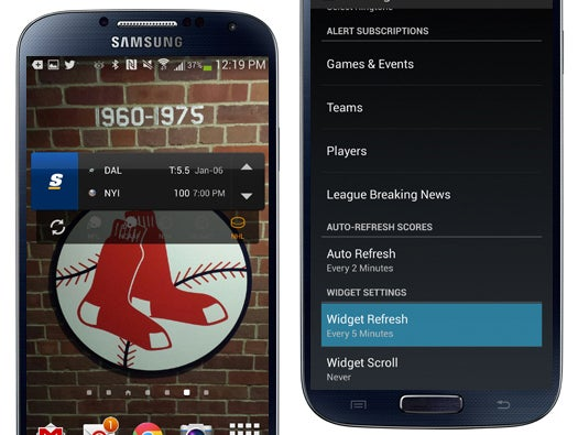 theScore Widget for Android