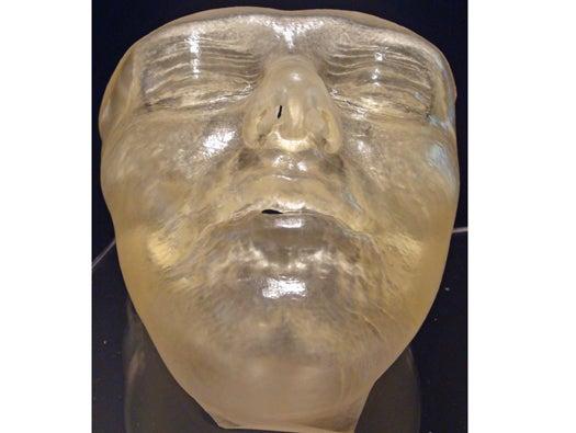 3D printed human face mold