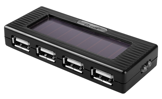 Brando USB Solar Charging 4-Port Hub with Torch