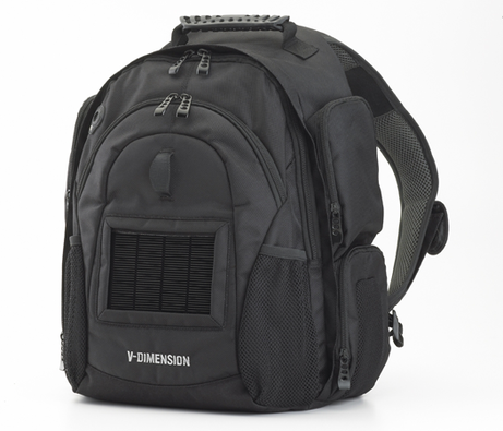 V-Dimension Helius solar-powered backpack