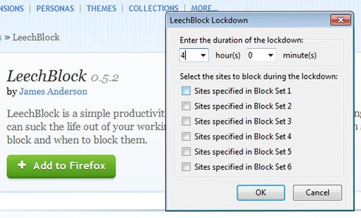LeechBlock screen shot