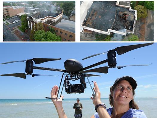 Draganflyer X6 UAV VTOL drone